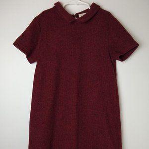 Zara red and black herringbone dress size 11/12